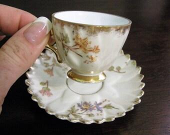 Tiny Tea Cup With Saucer