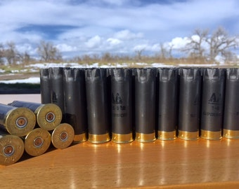 Empty Shotgun Shells 50 Lot Gun Metal Gray with Brass Base Remington AA 12 Gauge 2.75''