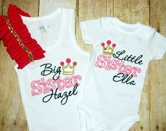 Big Sister Little Sister Matching Outfit Set