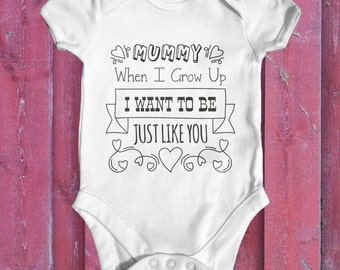 When I Grow Up  baby bodysuit | Funny Baby Bodysuit | Cute Baby Clothes | Newborn Baby Clothes | Slogan Baby Bodysuit | Baby Shower Gift