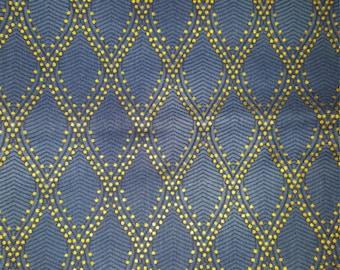 Dark Blue Royal Mendhi Quilting Fabric