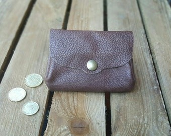 Leather wallet, leather wallet * MIDI *.