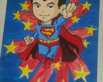 Chibi Flying Superman