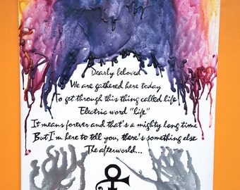 Prince Melted Crayon Art