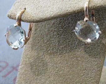18-carat rose gold earrings lemon quartz