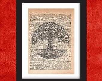 Tree of Life Wall Art, Dictionary Art Print, Dictionary Art, Dictionary Print, Dictionary Pages Dictionary Page Art, Tree of Life Wall Decor