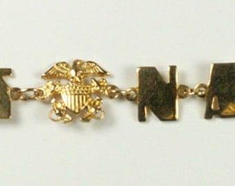 """U.S. Navy WWII Sweetheart Bracelet """"Embracelet"""""""