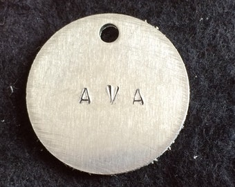 Personalized Name hand-stamped pendant
