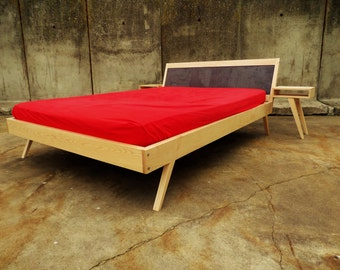 bed made from solid wood