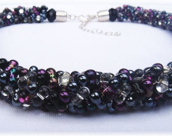 "Bead / tube chain ""Papillon"""