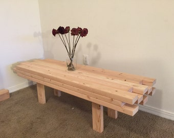 Modern Coffee Table Made Of 2x4s (Or Bench)