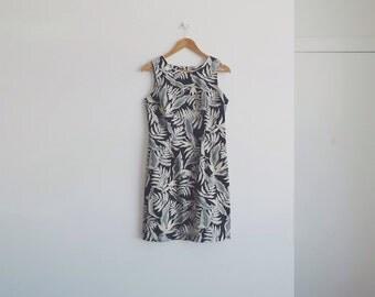 1960s vintage forest dress