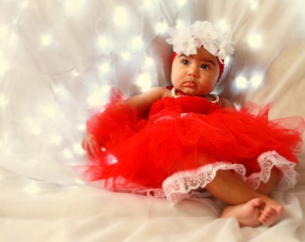Divine Christmas Red Tulle Dress