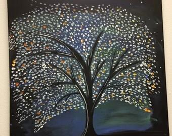 Fantasy Tree - Acrylic Painting