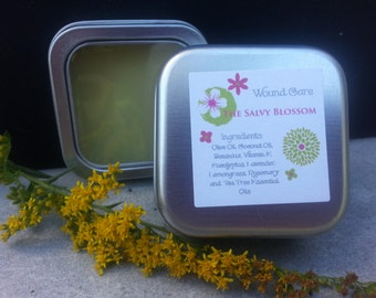 Wound Care Salve, Healing Ointment, All Natural Bacitracin, Petroleum Free Ointment, Antiseptic