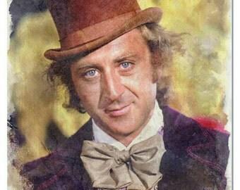 Willy Wonka Digital Art Print | Gene Wilder Digital Art Print | Matte Paper Print | Original Watercolor Painting | Poster Art Print