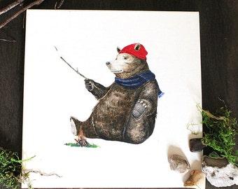 "Bruce D. Bear | 12"" x 12"""
