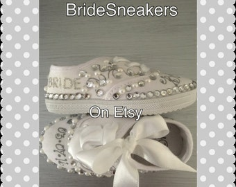 Wedding *Wedding Sneakers* Brides*Bride Sneakers*Wedding Shoes*Brides Flats*