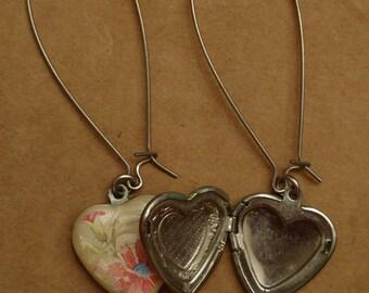 Vintage locket earrings