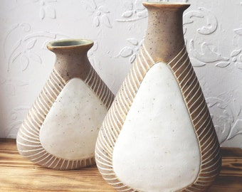 Set of ceramic vases