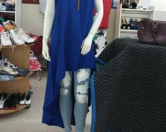 Beautiful Blue Hi Low Dress