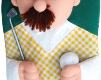 Mr. Golfer decorative oven mitt