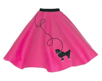 Adult Hot Pink 50's POODLE SKIRT