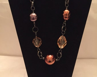 Chunky Copper Bauble Necklace