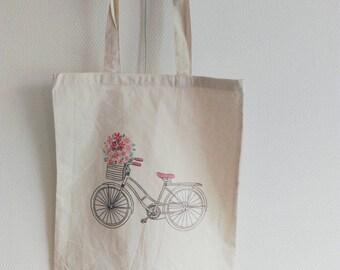 Canvas tote bag bike bicycle