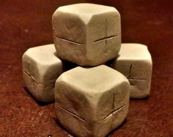 Red clay dice