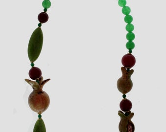 Pomegranates Line Necklace
