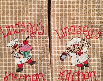 Personalized Chef Dish Towel Set