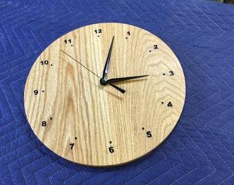 """12"""" Oak Wood Wall Clock"""