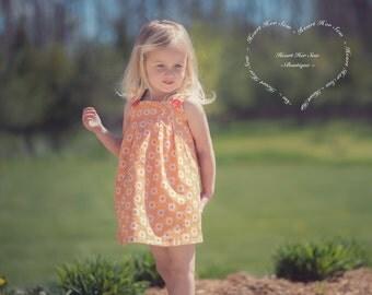 Organic Fabric | Reversible Girls Summer Dress | Baby Summer Dress | Custom Color