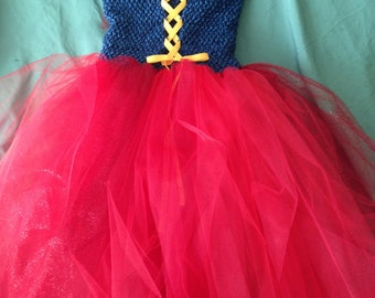 lined tutu dress, extra long