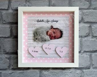 Personalised Baby Birth Frame