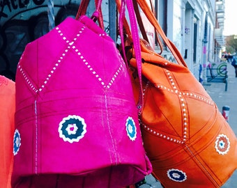 Colourful Handmade Leather Bag