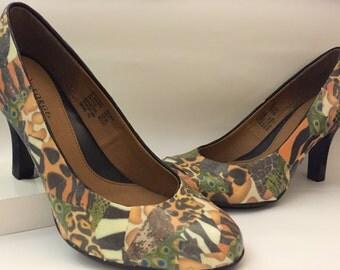 Custom Collage Heels- Animal Print Design