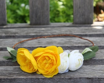 Summer Ranunculus Flower Crown