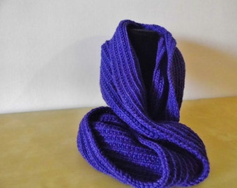 Knitted scarf necklace, Wool necklace, Knitted necklace, accessories, loop scarf