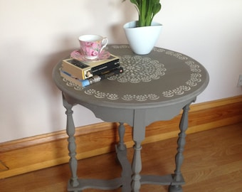 Hand Painted Occasional Round Table