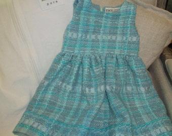 Little Girls Handwoven Silk Dress