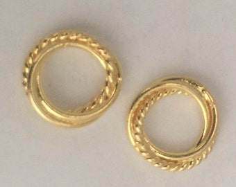 11 mm vermeil twisted ring