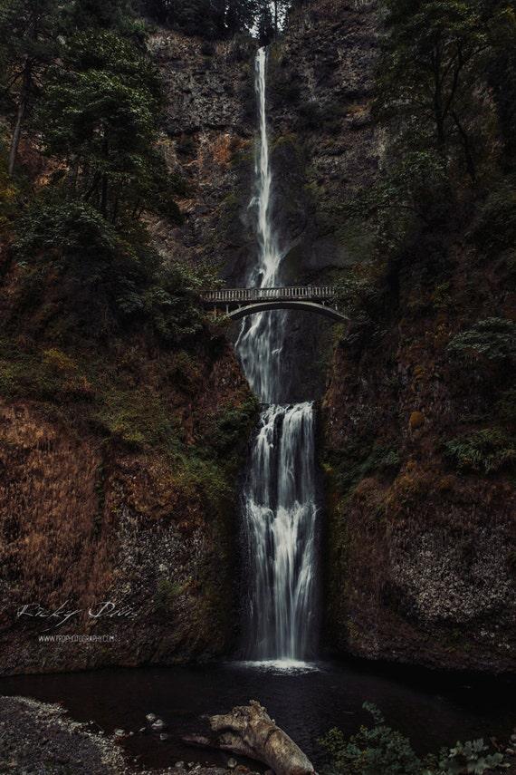 Landscape Glass Portland Oregon : Multnomah falls portland landscape photography print ricky davis