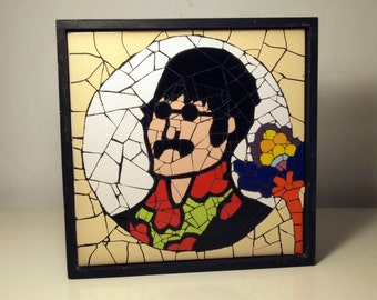 Mosaic Art Wall, John Lennon The beatles