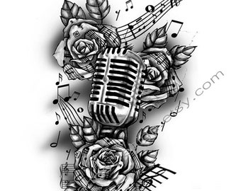 Microphone tatt... Gates Of Heaven Design