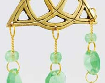 Brass Celtic Triquetra Wind Chime