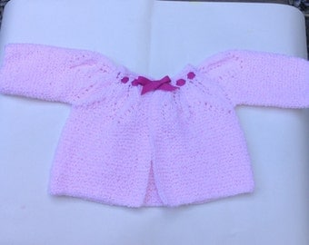 Baby sweater/jacket with canesú