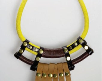 Ethnic statement handmade necklace