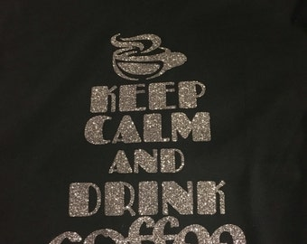 Keep Calm and Drink Coffee V-neck T-shirt